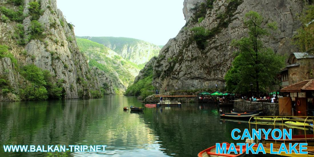 Magnifique canyon de Matka en Macédoine