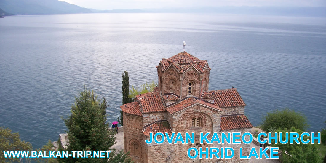 Eglise orthodoxe Jovan Kaneo au bord du lac d'Ohrid