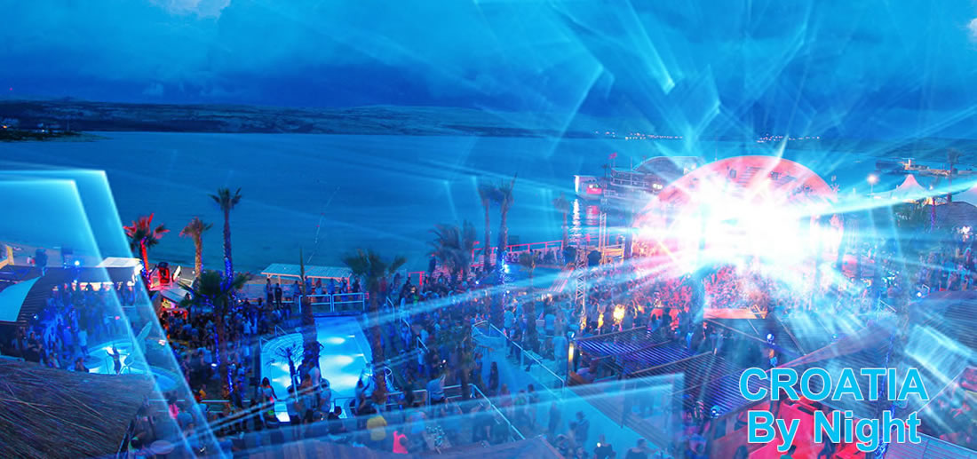 Faire la fête sur la côte croate de la mer Adriatique