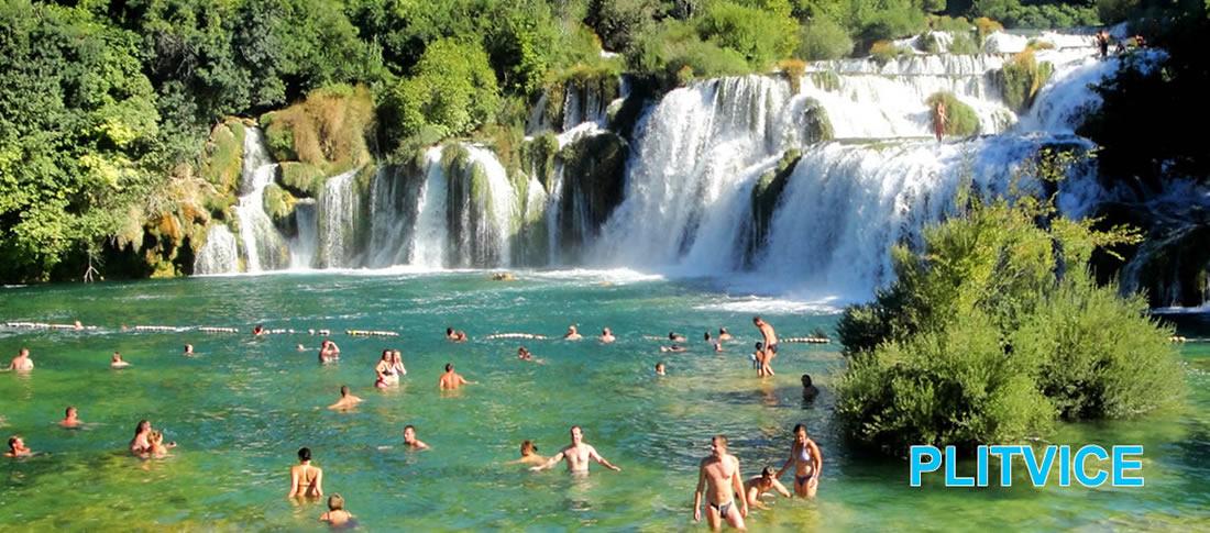Baignade et farniente - lac de Plitvice en Croatie