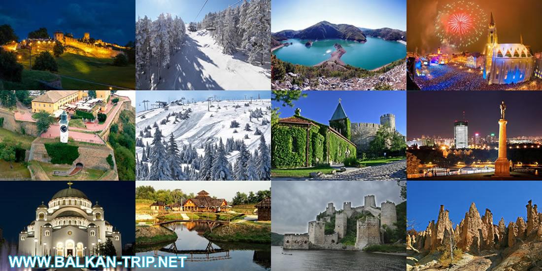 Toutes les destinations touristiques de la Serbie