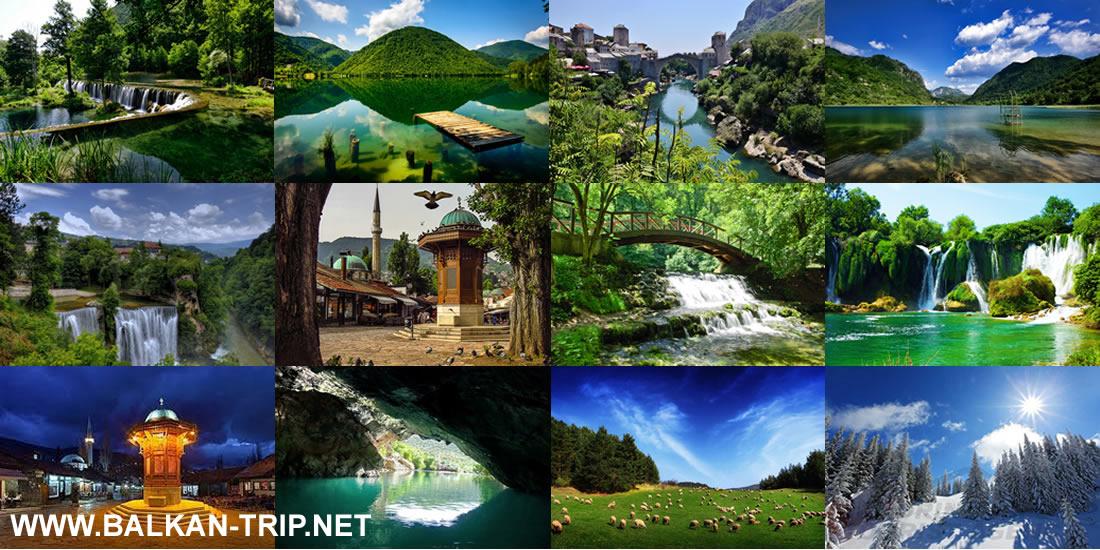 Voyage et visite touristique de Bosnie dans les Balkans